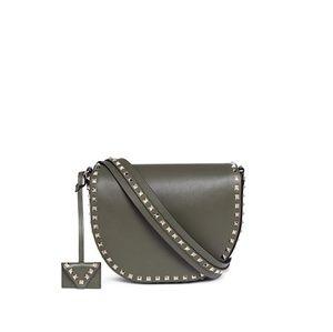 Valentino Women's Green 'rockstud' Leather Saddle